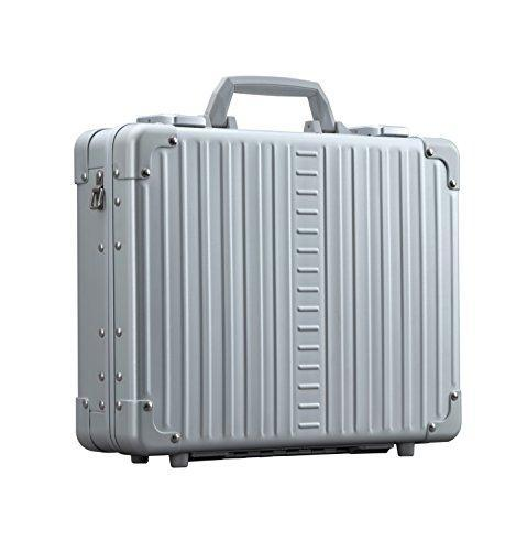 "Aleon 15"" Aluminum Hardside Business Attache Briefcase (Platinum) Sliver"