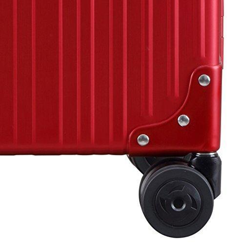 "Aleon 30"" Macro Traveler Aluminum Hardside Checked Luggage (Ruby) Red"