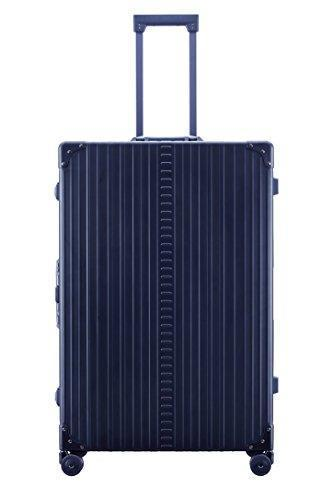 "Aleon 32"" Macro Traveler Aluminum Hardside Checked Luggage (Sapphire) Blue"