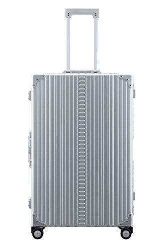 "Aleon 30"" Macro Traveler Aluminum Hardside Checked Luggage With Suiter (Platinum) Sliver"