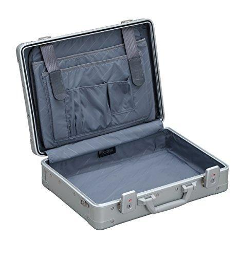 "Aleon 17"" Business Attache Aluminum Hardside Business Briefcase (Platinum) Sliver"