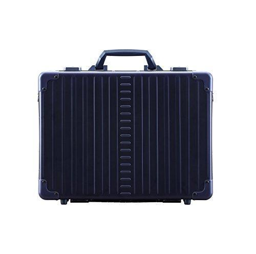"Aleon 17"" Business Attache Aluminum Hardside Business Briefcase (Sapphire) Blue"