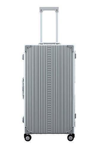 "Aleon 30"" International Trunk Aluminum Hardside Luggage (Platinum) Silver"