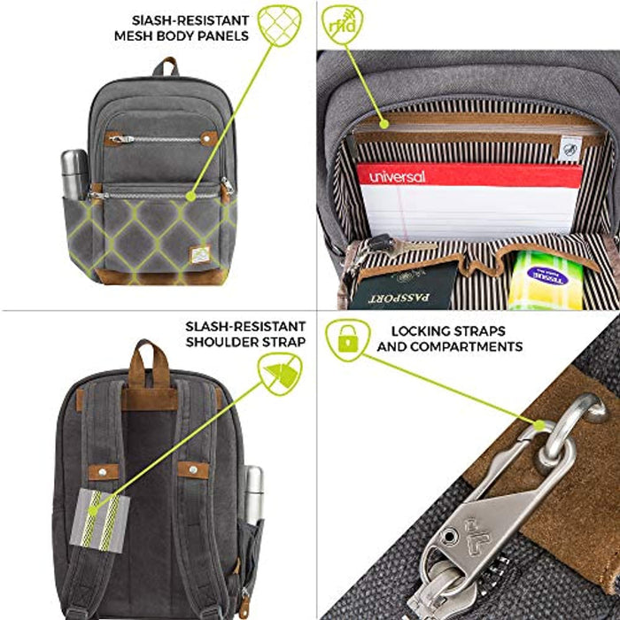 Travelon: Anti-Theft Heritage Backpack