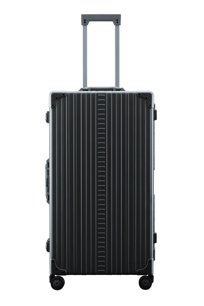 "Aleon 30"" International Trunk Aluminum Hardside Luggage (Onyx) Black"