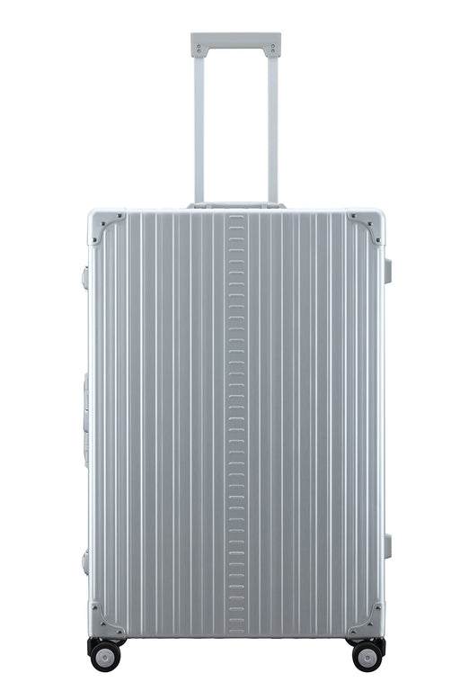 "Aleon 32"" Macro Traveler Aluminum Hardside Checked Luggage (Platinum) Silver"