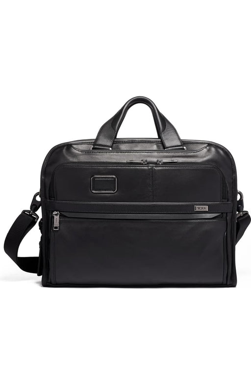 Alpha 3 Organizer Portfolio Leather Briefcase