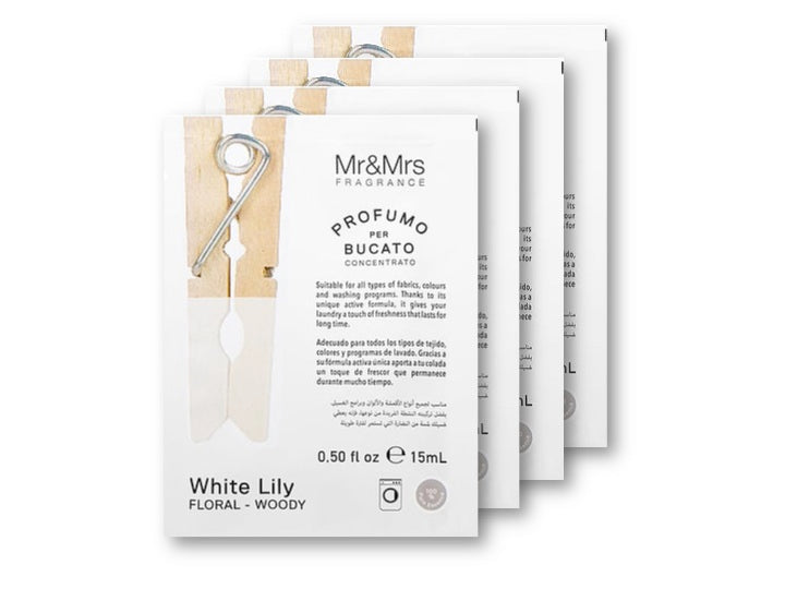 PERFUME CONCENTRADO SACHET 15 ML - White Lily - PACK 4 SACHETS
