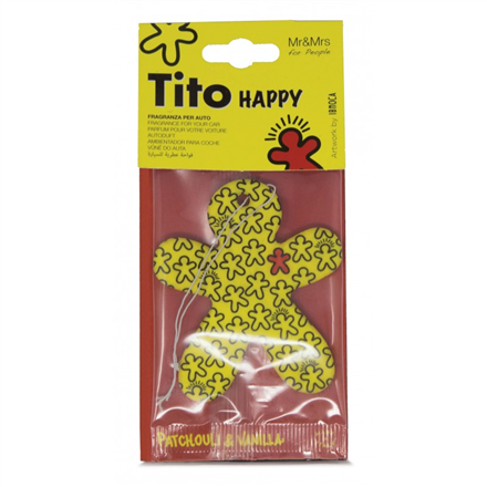 Tito Happy Paper Yellow - Patchouly & Vanilla