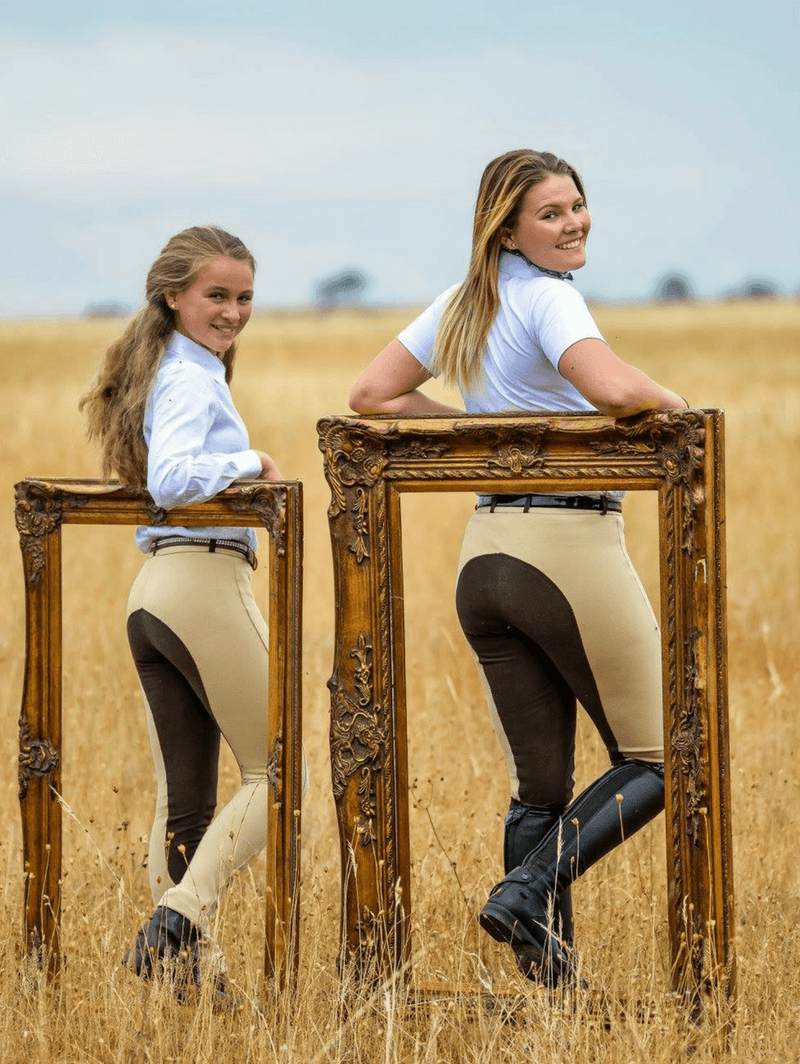 Beige Chocolate Slicker Sticker BREECHES- Ladies
