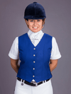 Ladies wearing Royal blue Show Vest