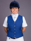 Ladies wearing Blue check Show Vest