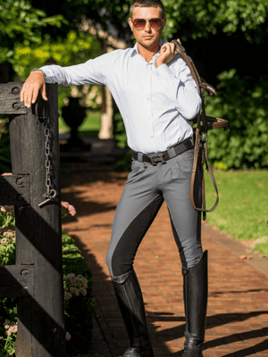 Men in Grey Cross Country BREECHES