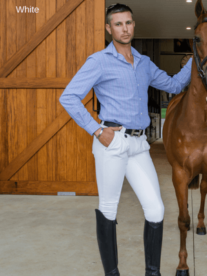 Men in White Cross Country BREECHES
