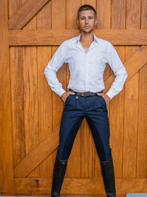 Men in Navy Cross Country BREECHES