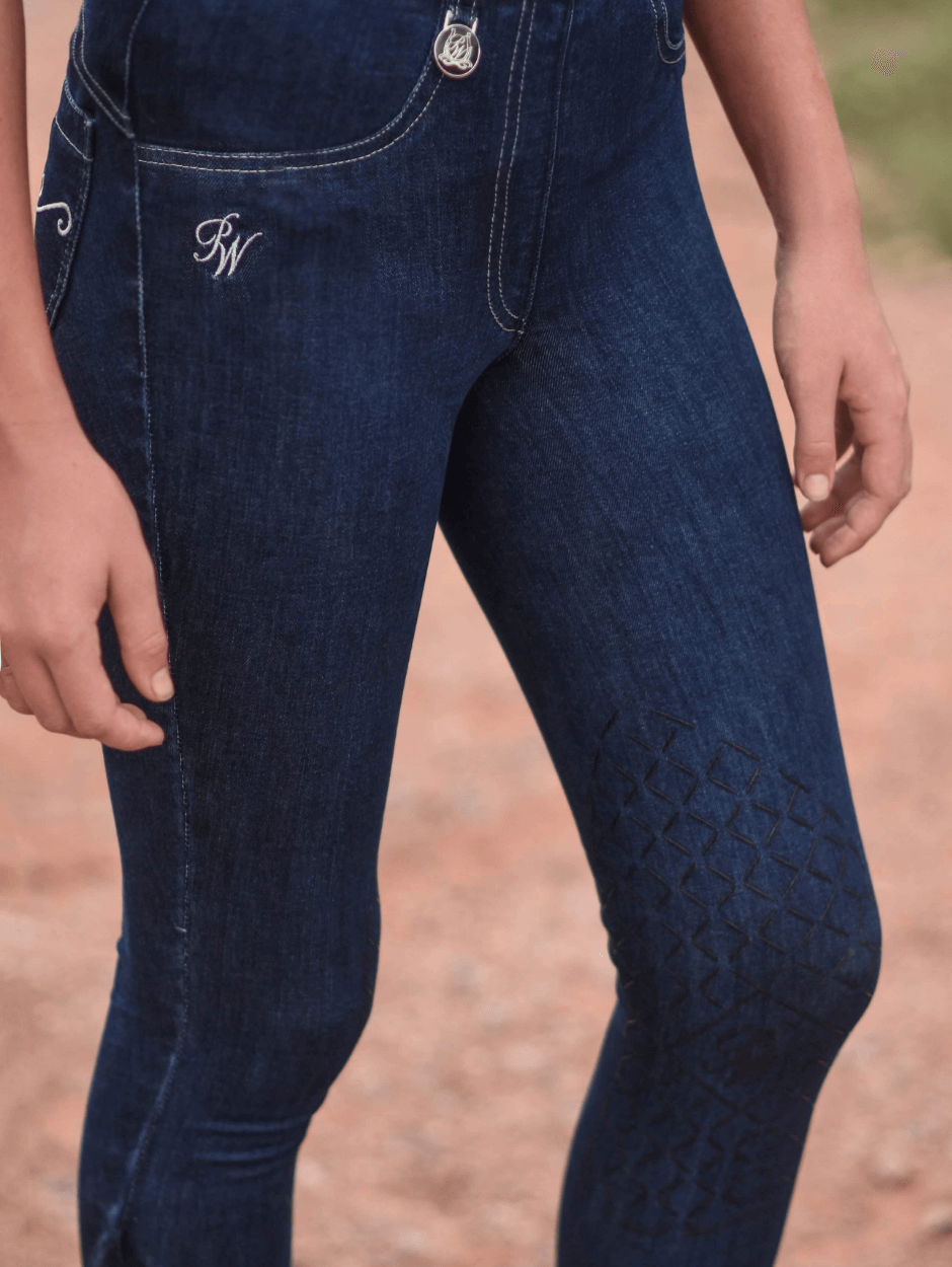 Ladies Pull On Denim Breeches