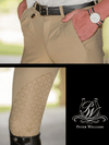 Men's wearing Freestyle Breeches in Beige