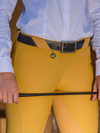 Ladies Show Full Seat Jodhpurs - Old Gold