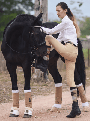 Ladies in Gel Seat PHONE POCKET Gripper Breeches