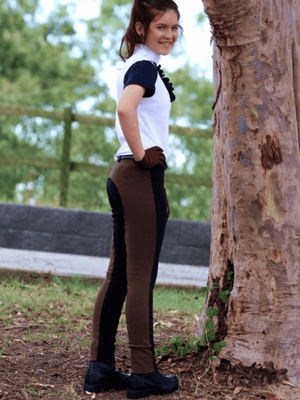 Jelly Bean Jodhpurs - Black & Chocolate