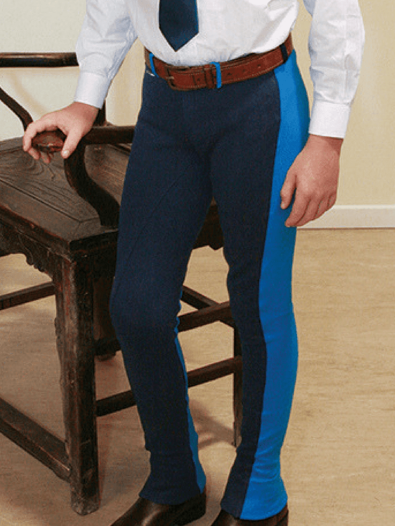 Jelly Bean Jodhpurs - Navy/Electric Blue