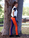 Children's Jelly Bean Jodhpurs - Purple & Tangerine