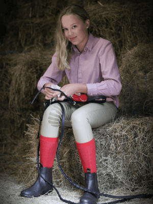 Children wearing Beige Junior Dressage Breeches