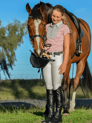 Children wearing Junior Dressage Breeches