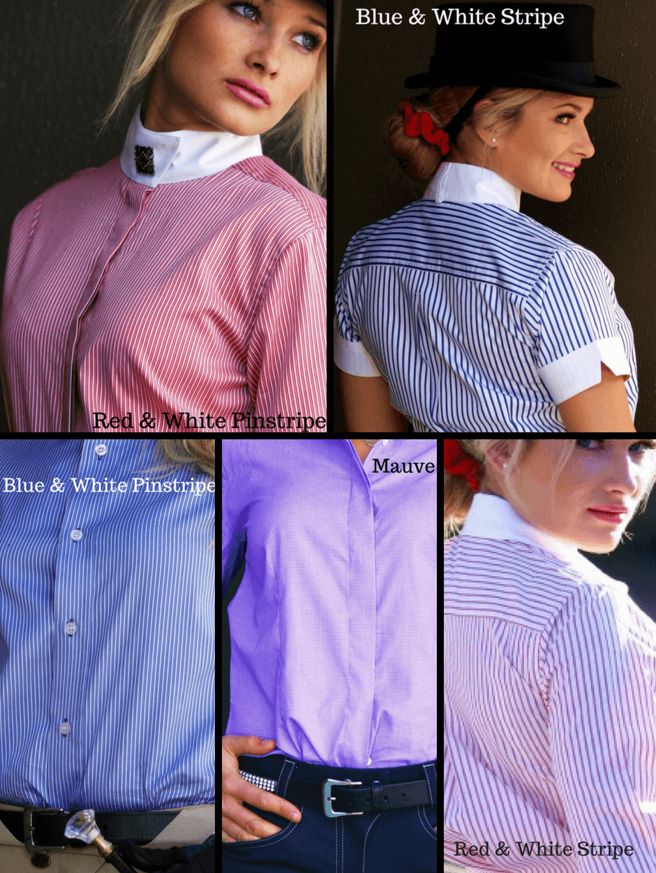 Ladies wearing Show Shirts with Rat Catcher Collar