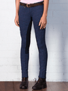 Pull-on Jodhpurs - Full Suede Seat - Children - Navy Check