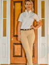 Ladies wearing Beige Pull-On Jodhpurs