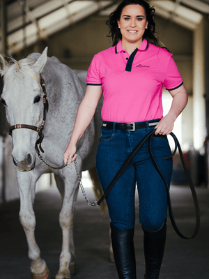 Ladies Denim Breeches - Roses