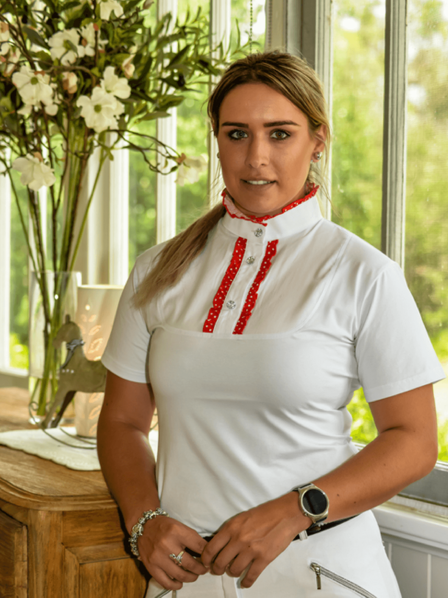 7dfabef76ca Ladies Ruffle Shirts – Peter Williams Riding Apparel