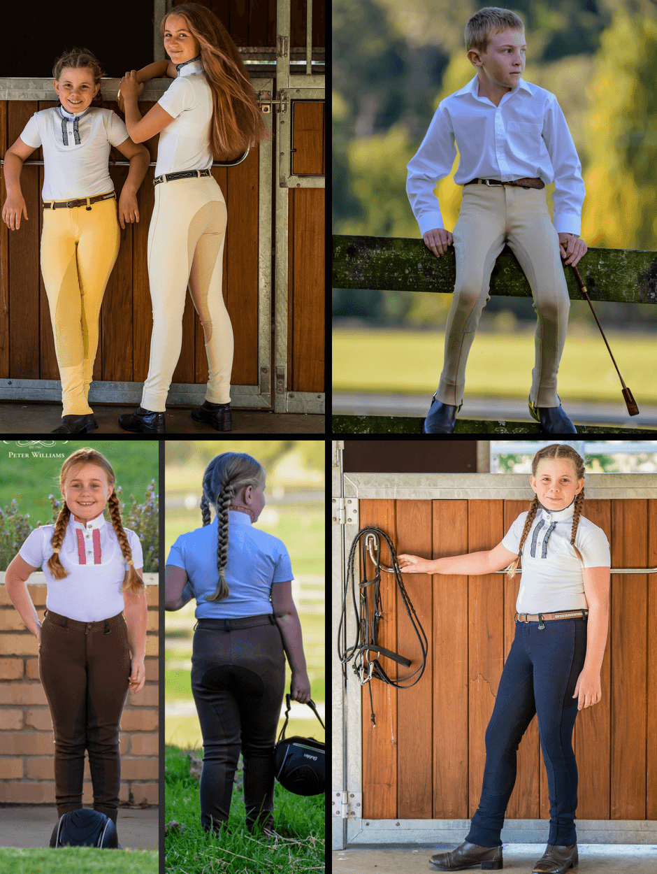 Children wearing Slicker sticker jodhpurs