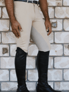 Men wearing Slicker Sticker Jodhpurs in Beige