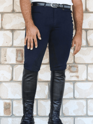 Men wearing Slicker Sticker Jodhpurs in Navy