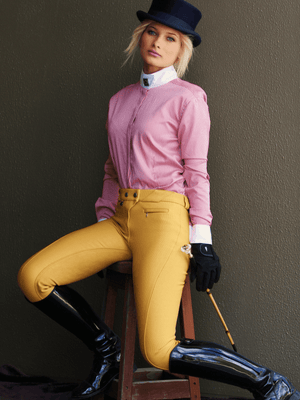 Ladies wearing Full Seat Breeches in Old Gold