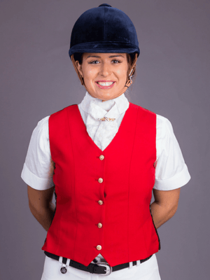 Ladies wearing Red Show Vest