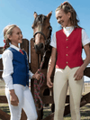 Children Show Riding Vests Equestrian Apparel Red