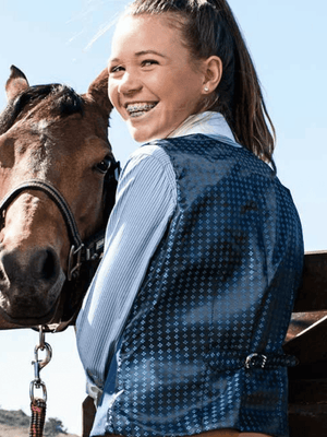 Children Show Riding Vests Equestrian Apparel Blue