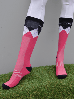 Peter Williams Socks in Navy pink