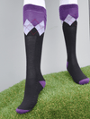 Peter Williams Socks in Black Purple