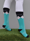 Peter Williams Socks in Turquoise