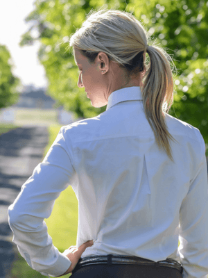 Ladies White Standard Collar - Long Sleeve