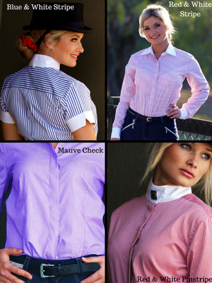 Ladies Show Shirts - Standard Collar - Long Sleeve