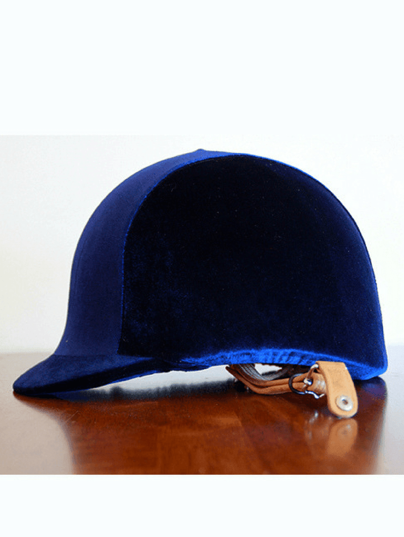 Velvet Helmet Cover in Navy Color