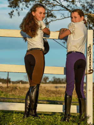 Children wearing Youth Pull On Breeches