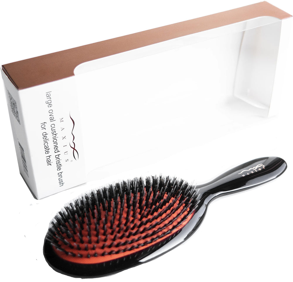 MAXIUS Beauty Oval Cushion Bristle Brush, Large