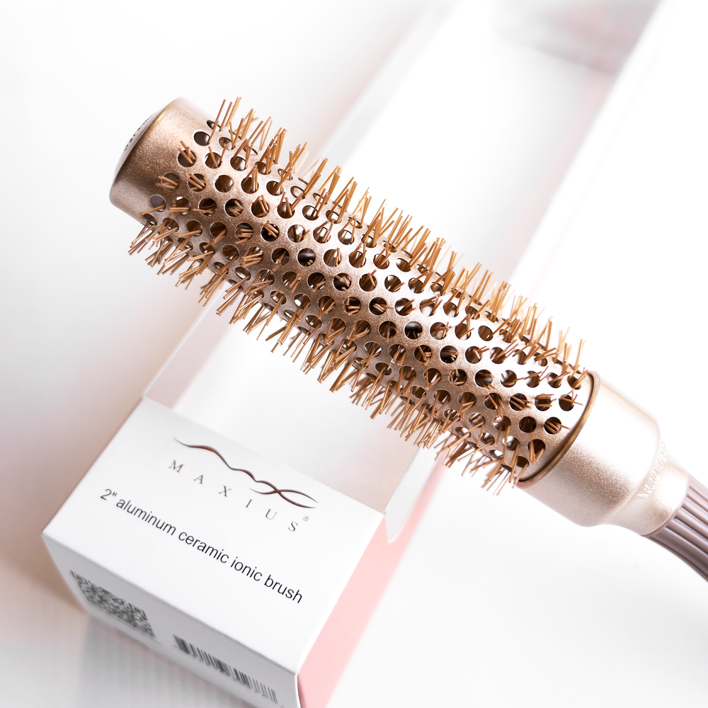 2 inch Aluminum Ceramic Ionic Brush - Maxius Hair