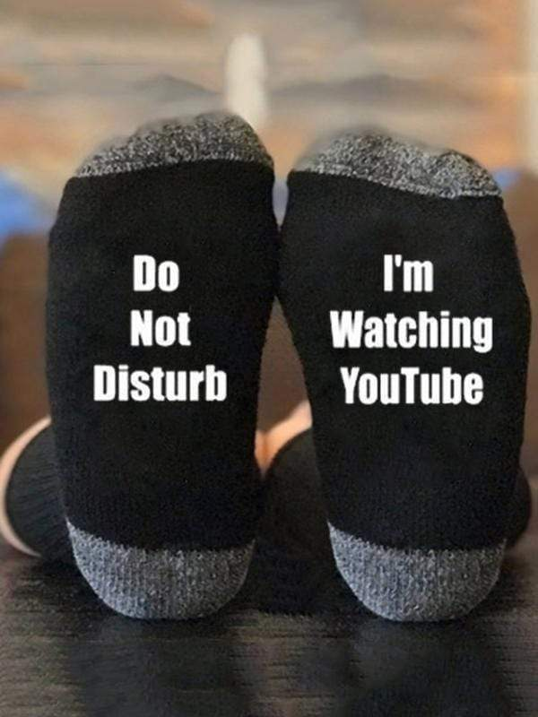 I Am Watching YouTube Socks